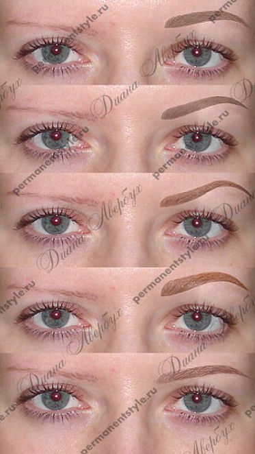 Computer selection of eyebrows